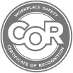 COR Certified logo. As part of the Certificate of Recognition