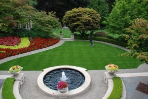 Artificial Grass, Precision Greens, Curb Appeal & Large Fountain