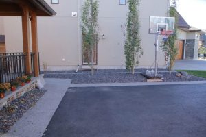 concrete curbing basketball court
