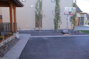 concrete curbing basketball court