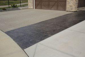 concrete curbing walkway