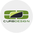 The Logo of Curb Design Calgary. A local Calgary-Based landscaping company
