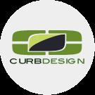 The Logo of Curb Design Calgary. A local Calgary-Based landscaping company