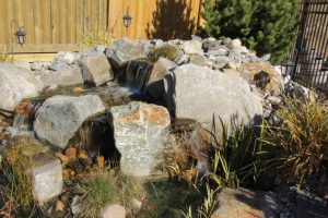 irrigation and mini water fall