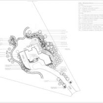 Large view of a Calgary landscape drawing or landscape design.
