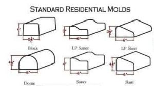 Standard Curb Appeal or Concrete Curbing Residential Molds. Block, LP Super, LP Slant, Dome, Super and traditional slant