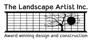 A logo of the Landscaping Artist Inc. the parent company of Curb Design Inc.