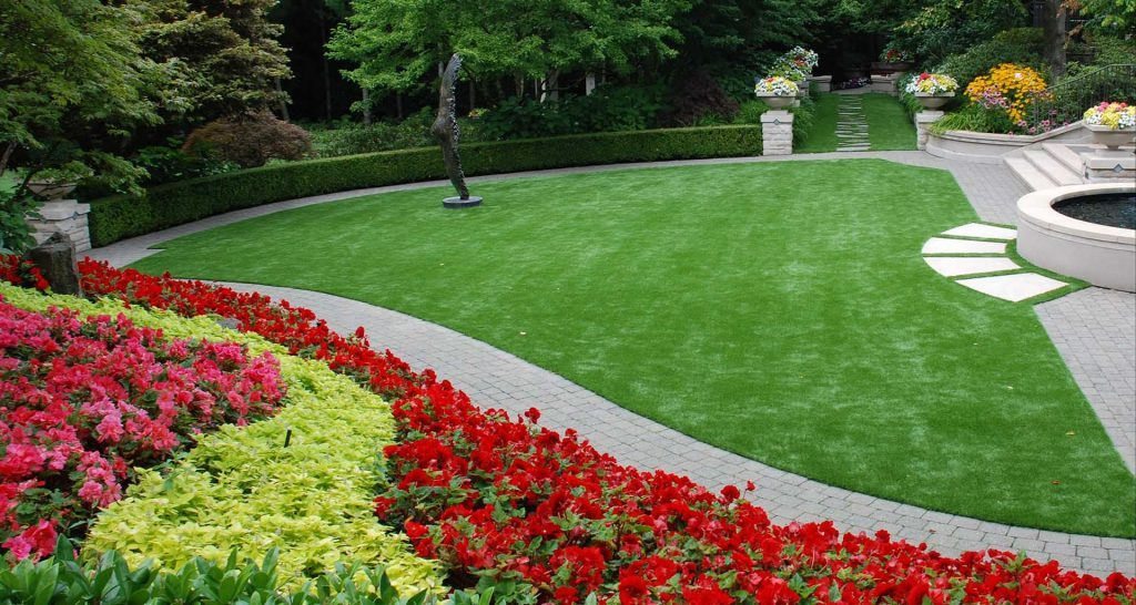 Side View Of An Artificial Turf Installation